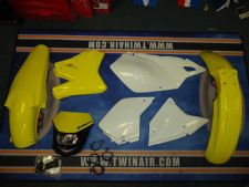New Acerbis Plastic Kit Halo Headlight DRZ 400 SM E S 00-14 Yellow/WT Plastics